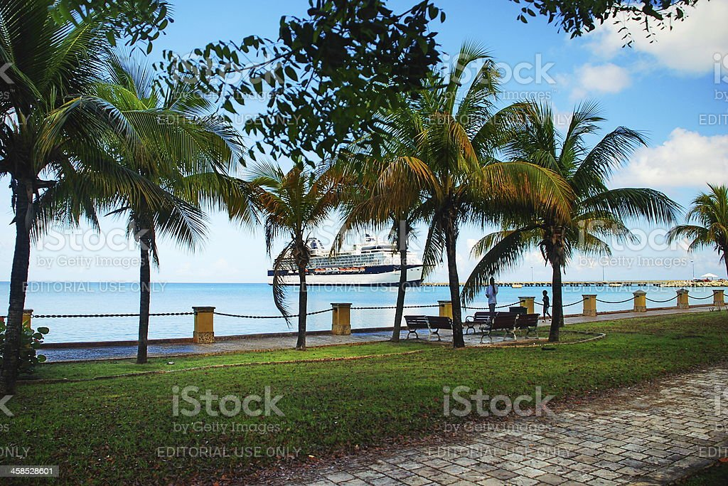Cruise Ship in St. Croix, US Virgin Islands stock photo