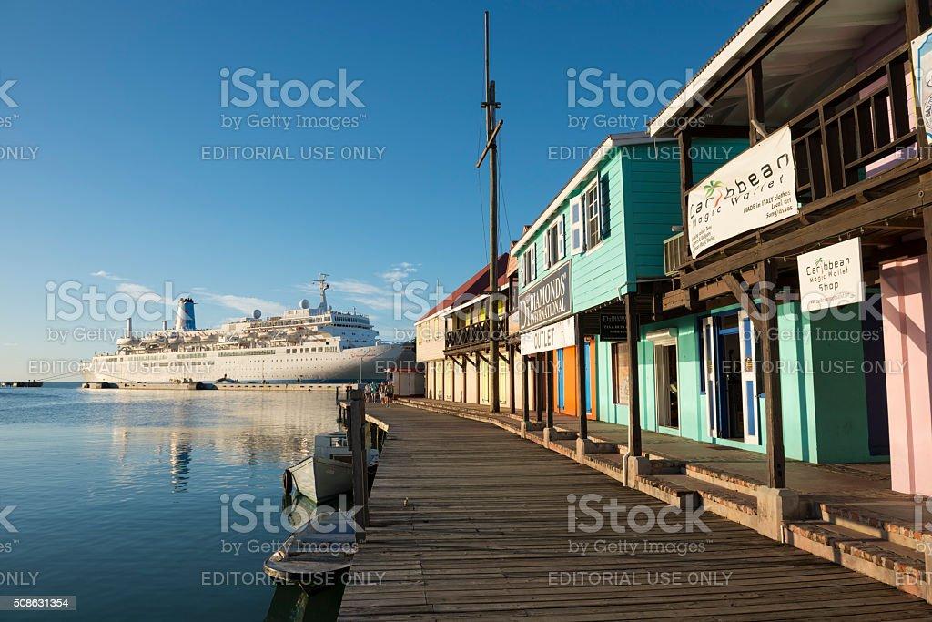 Cruise ship in St. John's, Antigua stock photo