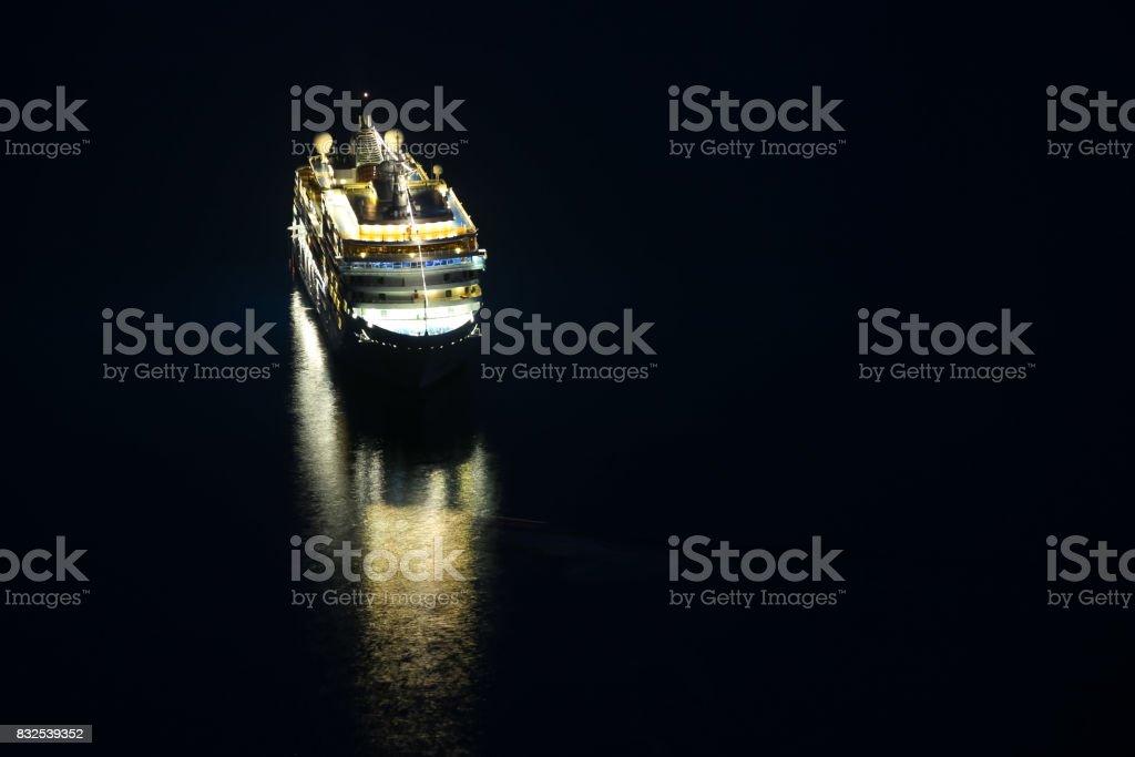 Cruise ship in the Adriatiac sea stock photo