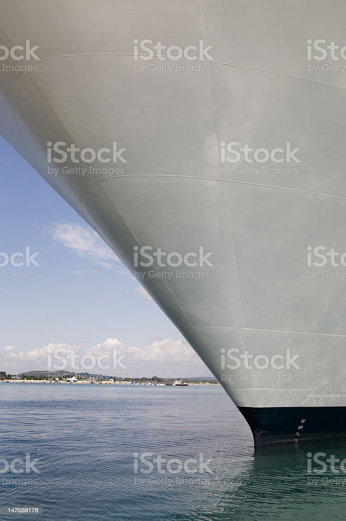 cruise ship in water stock photo