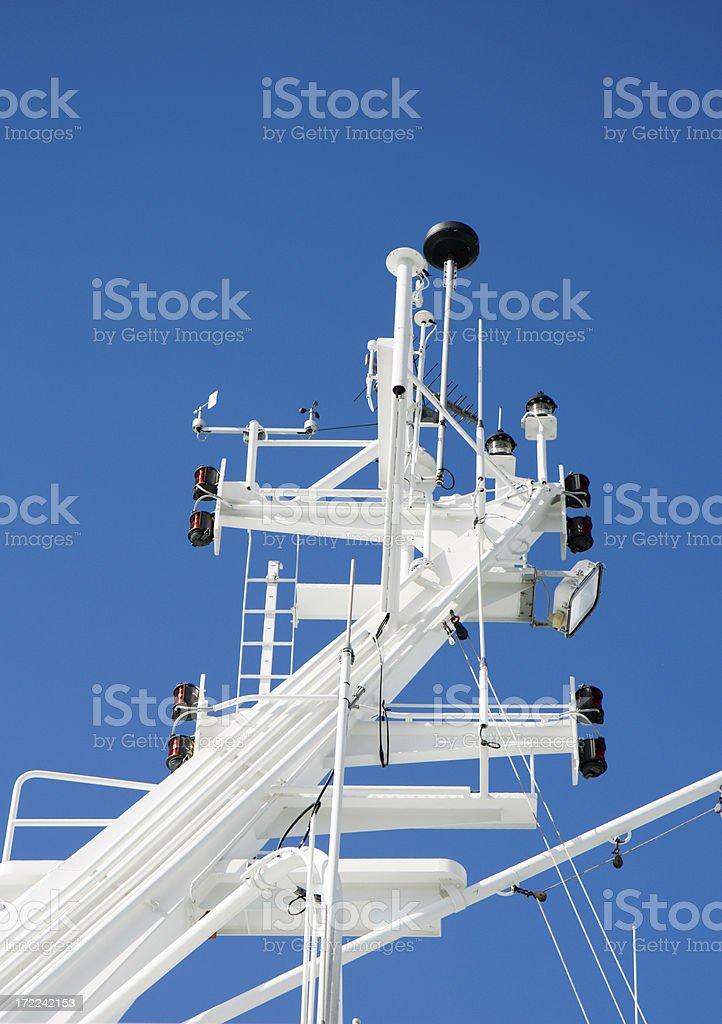 Cruise ship mast royalty-free stock photo