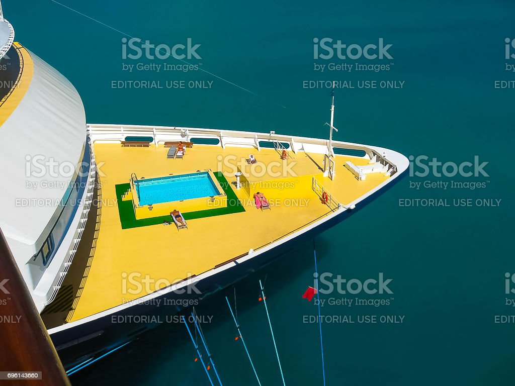 Cruise ship Mein Schiff 1 docked in port stock photo