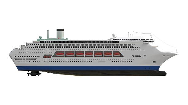 Cruise Ship Middle Stock Photo