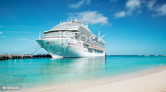 istock Cruise ship moored at Grand Turk island, the Caribbeans 901820444
