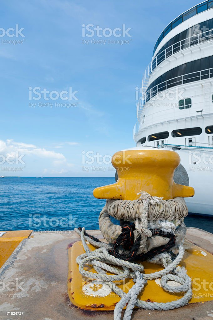 Cruise Ship Mooring royalty-free stock photo