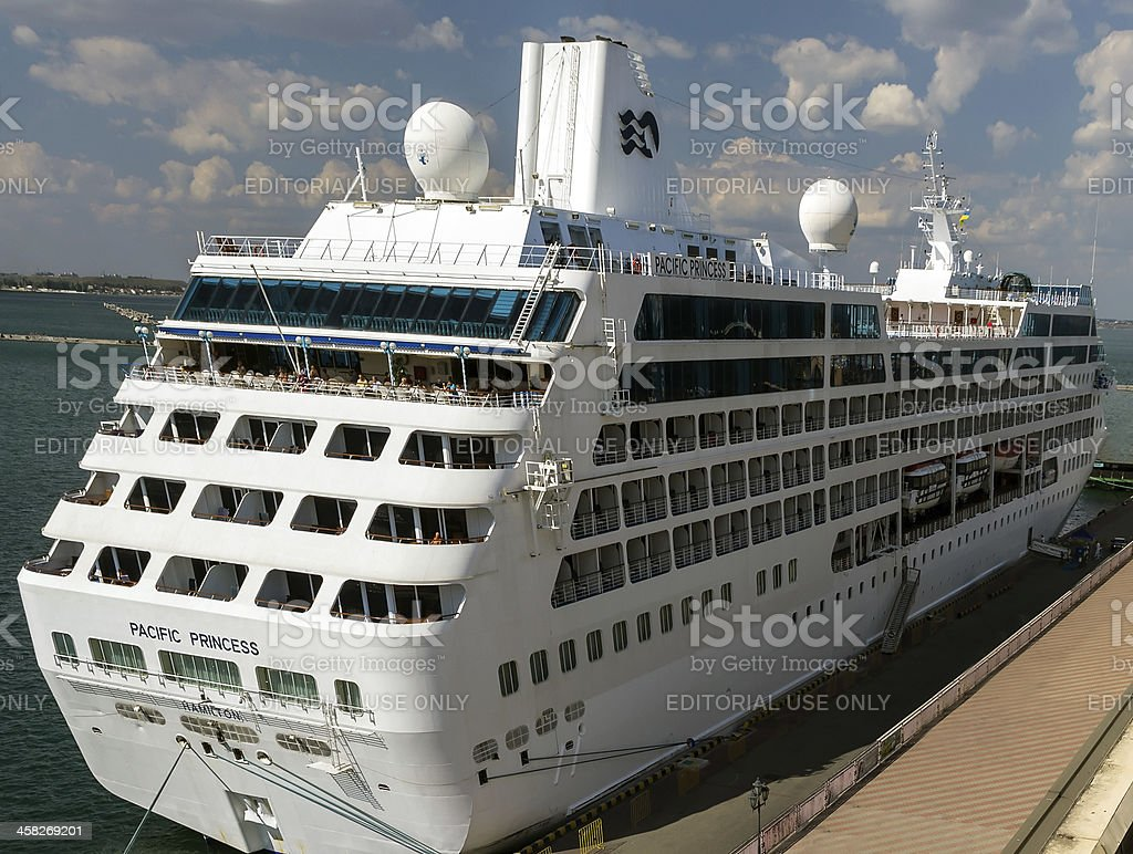 Cruise ship Pacific Princess Hamilton. royalty-free stock photo