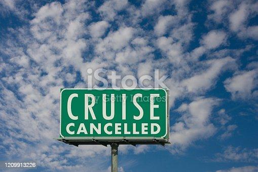 Cruise Ship Sign