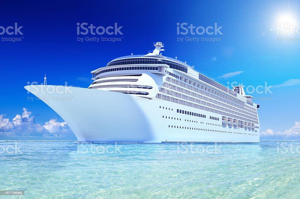 Cruise ship royalty-free stock photo