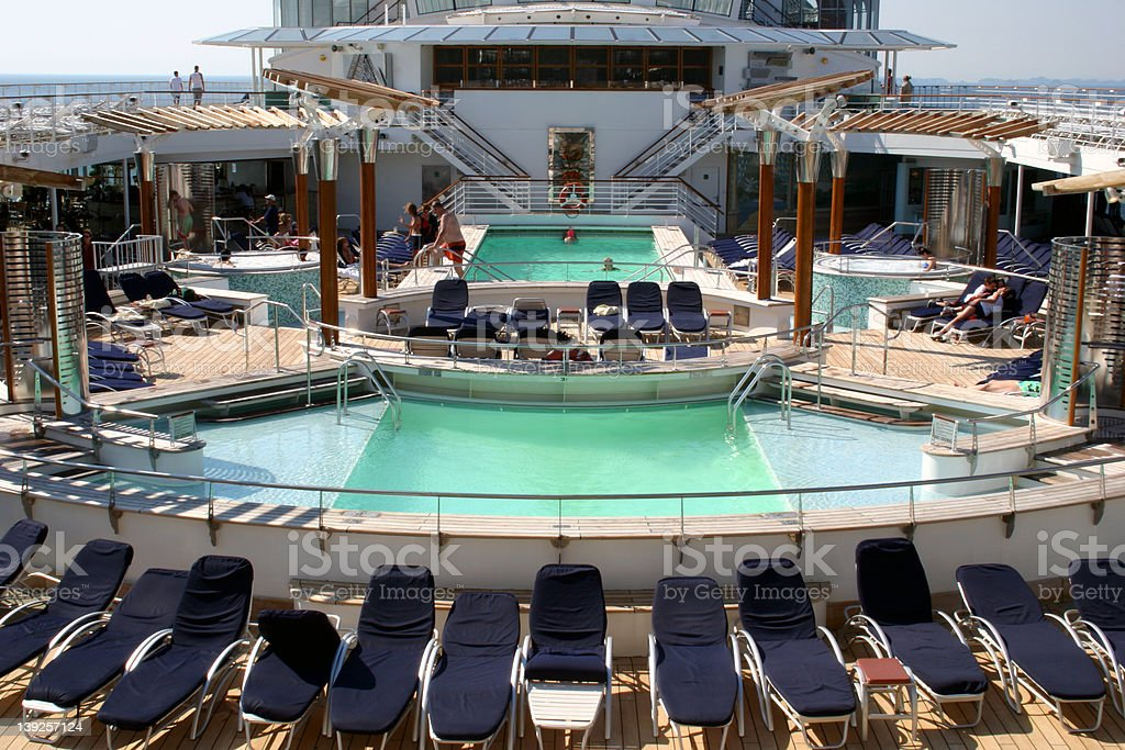 Cruise Ship Pool royalty-free stock photo