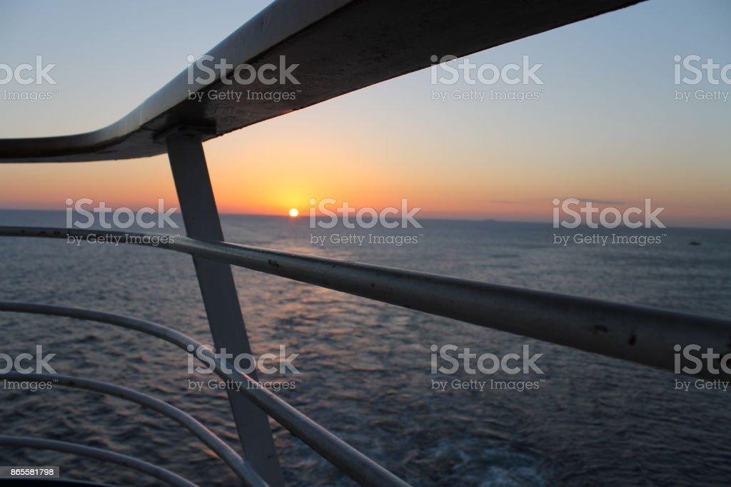 Cruise ship Sunrise stock photo