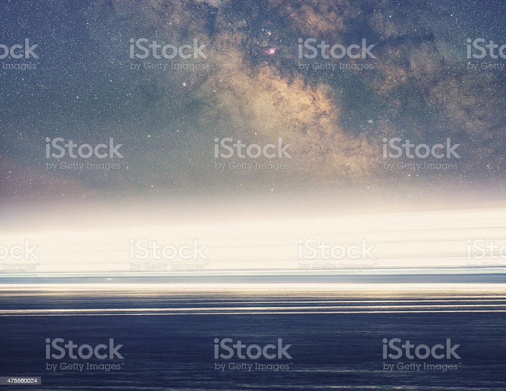 Cruise Ship to the Heavens stock photo