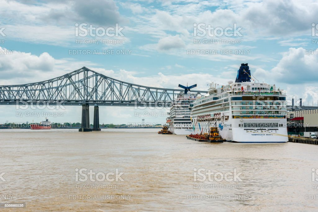 Cruise Ships Docked In New Orleans Stock Photo IStock - Cruise ships new orleans