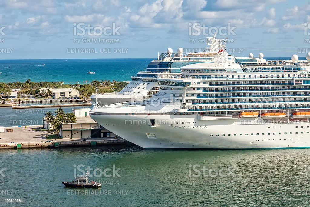 Cruise Ships in Port Everglades stock photo