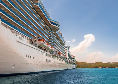 Cruise Ships Lining Up