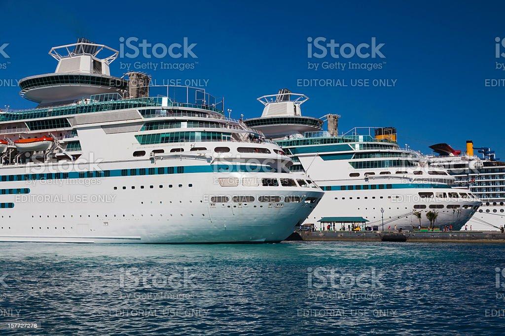 Cruise Ships royalty-free stock photo