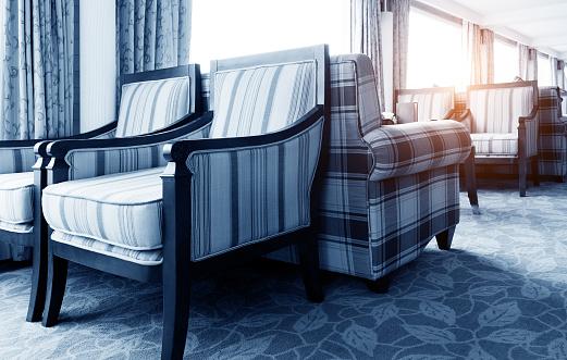 Cruise ship's sofa