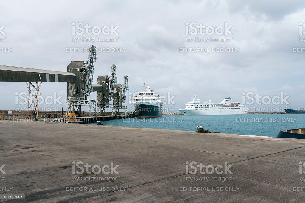 Cruise Terminal in Bridgetown, Barbados stock photo