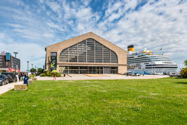 Cruise Terminal of Cherbourg-Octeville, France Cherbourg-Octeville, France - May 22, 2017: View of the Gare Maritime Transatlantique (Cruise Terminal) of Cherbourg-Octeville, France. The Titanic took here passengers before last travel. cherbourg stock pictures, royalty-free photos & images
