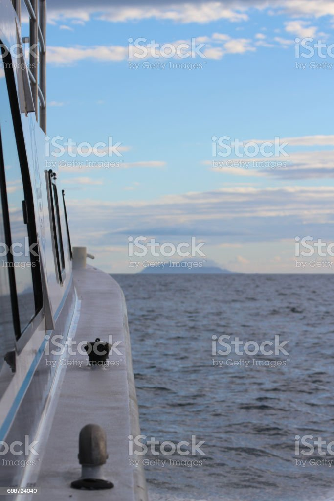 cruise to volcano island stock photo