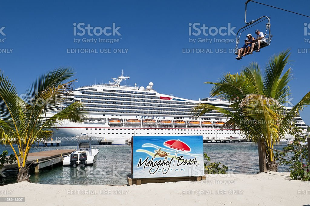 Cruise vacation - Mahogany Bay, Roatan stock photo