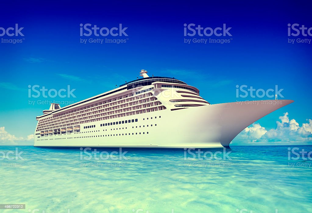 Cruise Vacation Travel Beach Summer Trip Sky Sea Concept stock photo