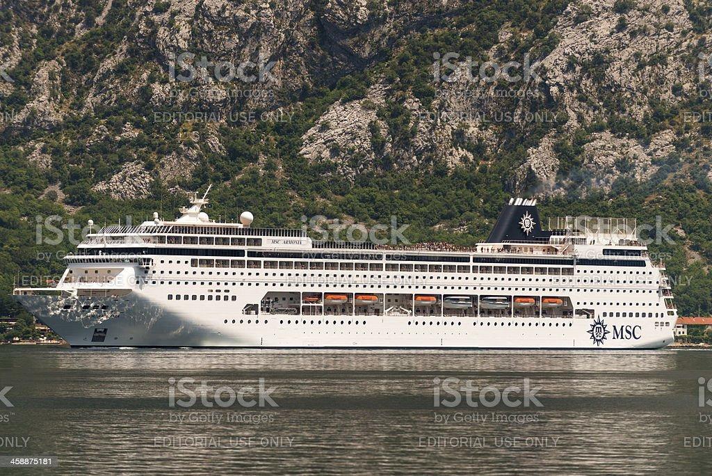 MSC cruises - Armonia cruise liner royalty-free stock photo