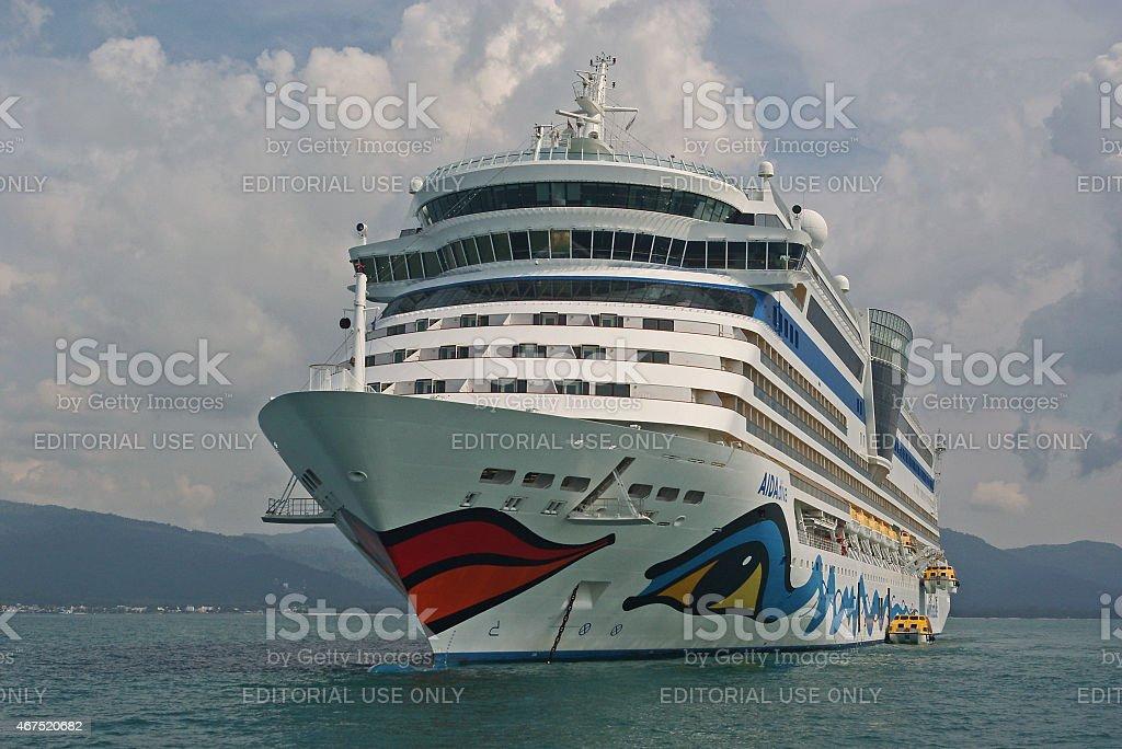 Cruiseship AIDAdiva stock photo