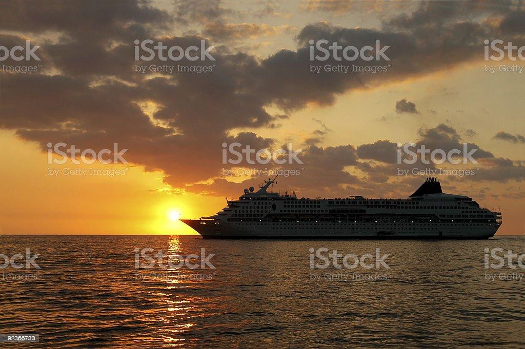 Cruisin in Sonnenuntergang Lizenzfreies stock-foto