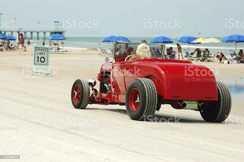 Cruisin' The Beach stock photo