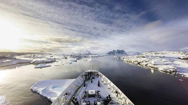 Cruising among ice - Photo