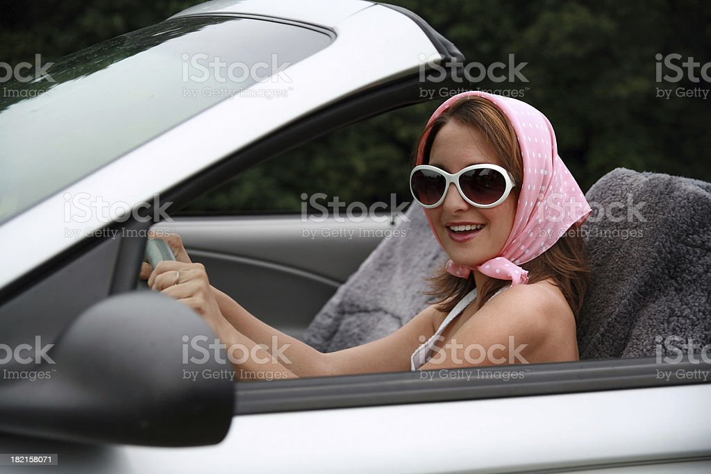 Cruising Girl royalty-free stock photo