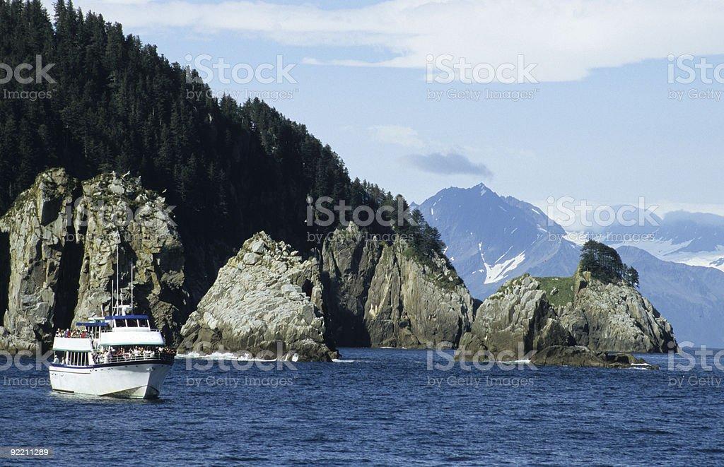 Cruising in Kenai Fjords National Park stock photo