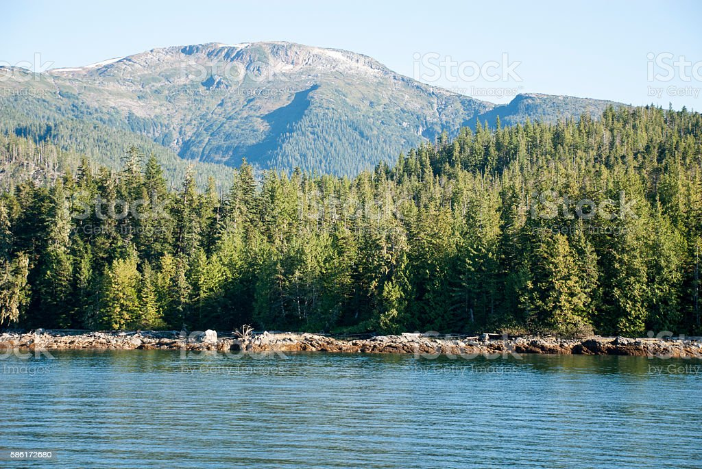 Cruising in Misty Fiords National Monument stock photo