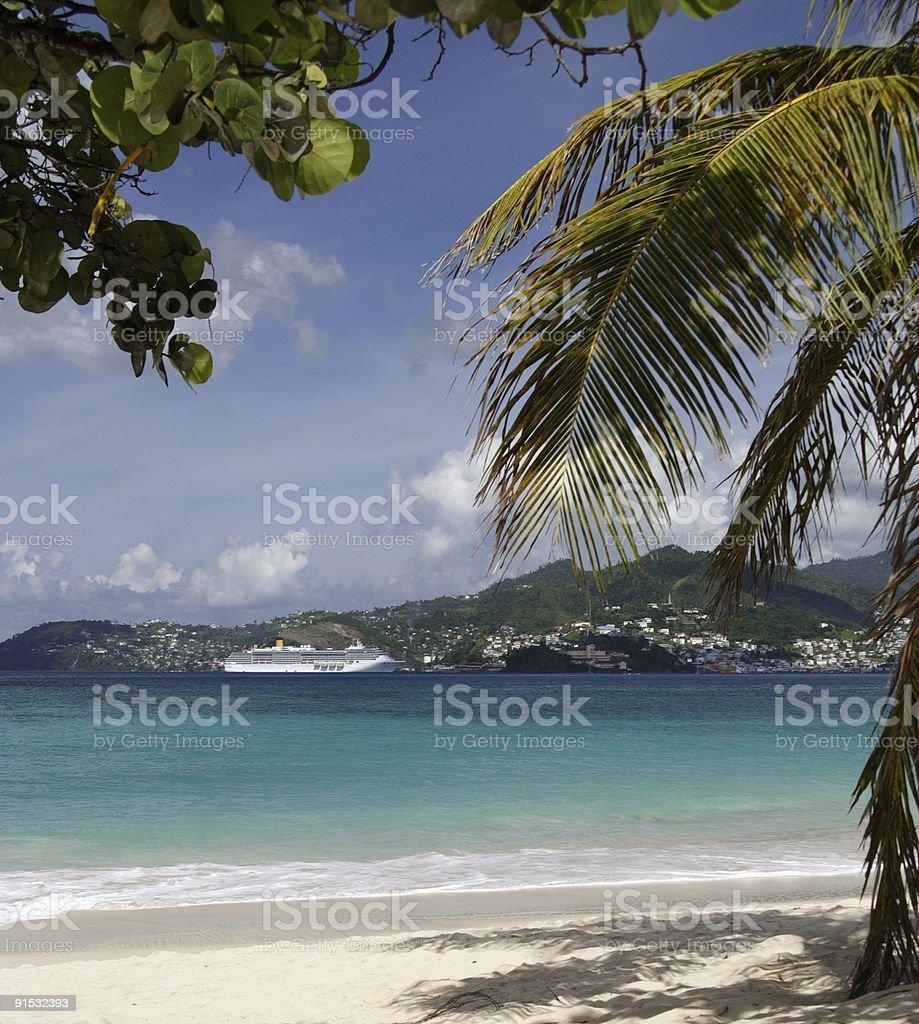 Cruising in paradise royalty-free stock photo