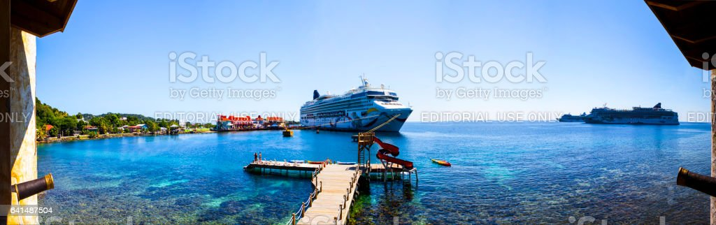 Cruising in the Caribbean stock photo
