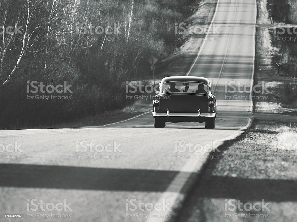 Cruising in the Coupe stock photo