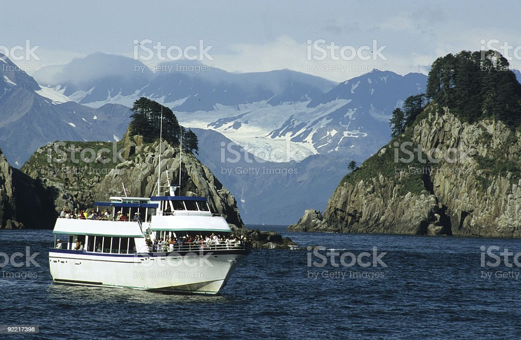 Cruising in the Kenai Fjords National Park stock photo