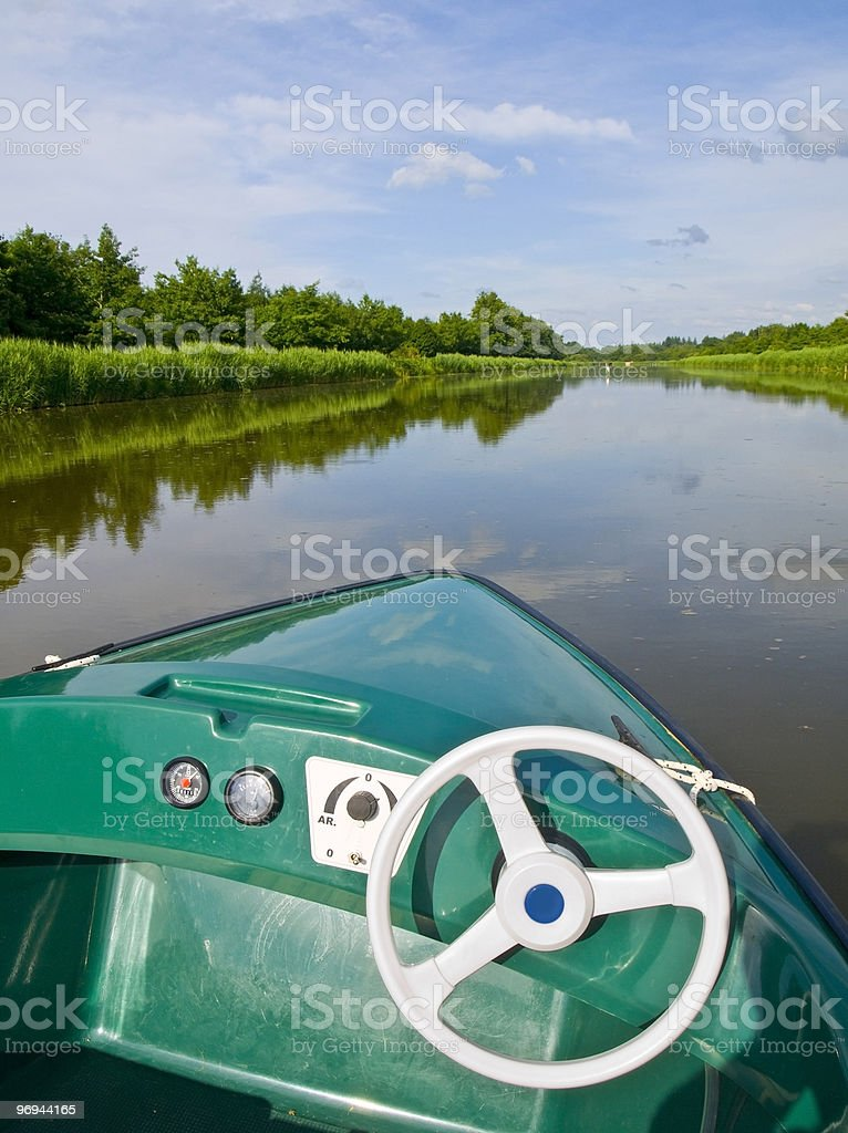Cruising in the river royalty-free stock photo