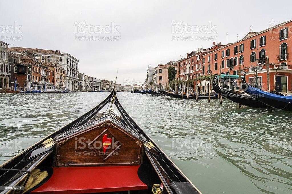 Cruising in Venice, Italy royalty-free stock photo