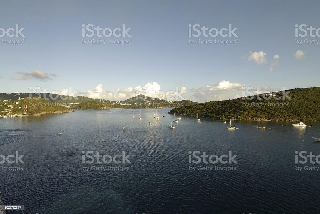 Cruising in Virgin Islands royalty-free stock photo