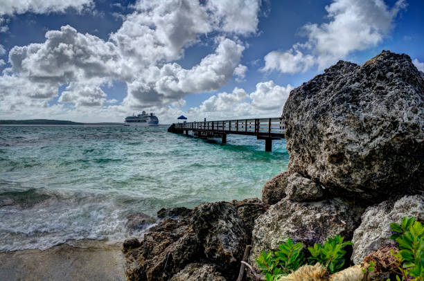 Cruising- Lifou, Loyalty Island stock photo
