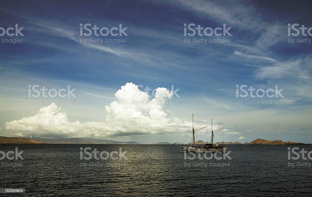 Cruising live-aboard royalty-free stock photo