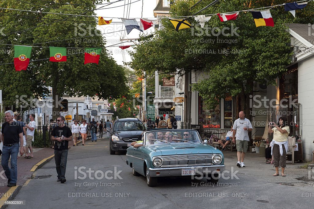 Cruising on Commercial Street royalty-free stock photo