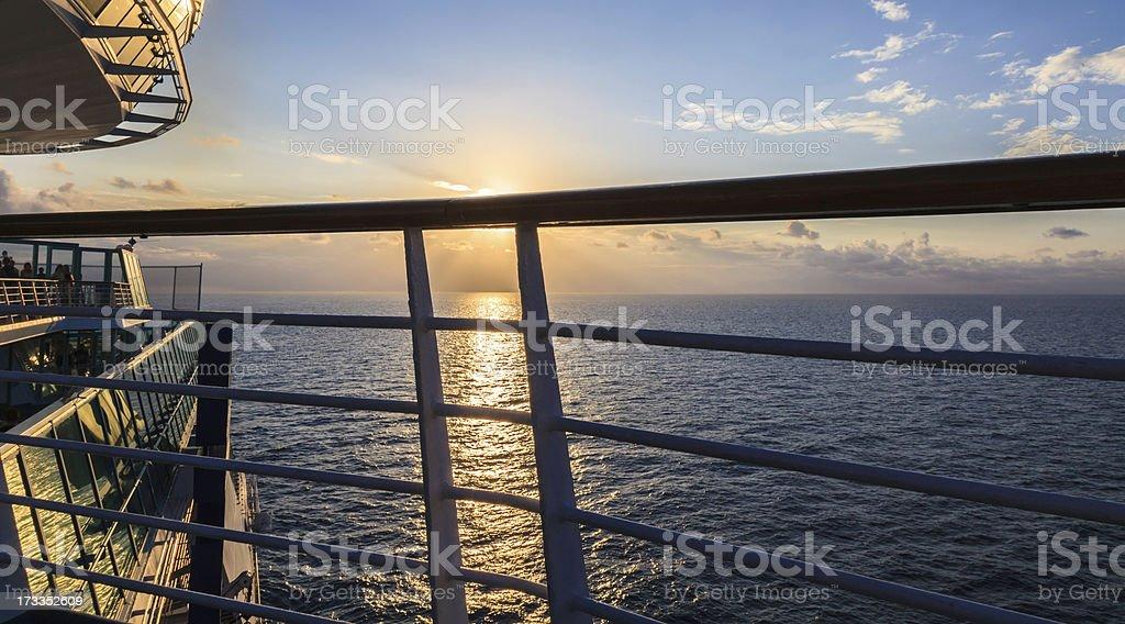 Cruising toward a Caribbean Sunset royalty-free stock photo