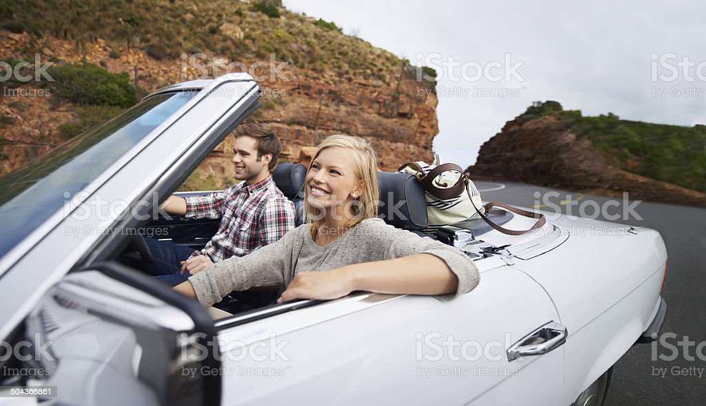 Cruising with the top down stock photo