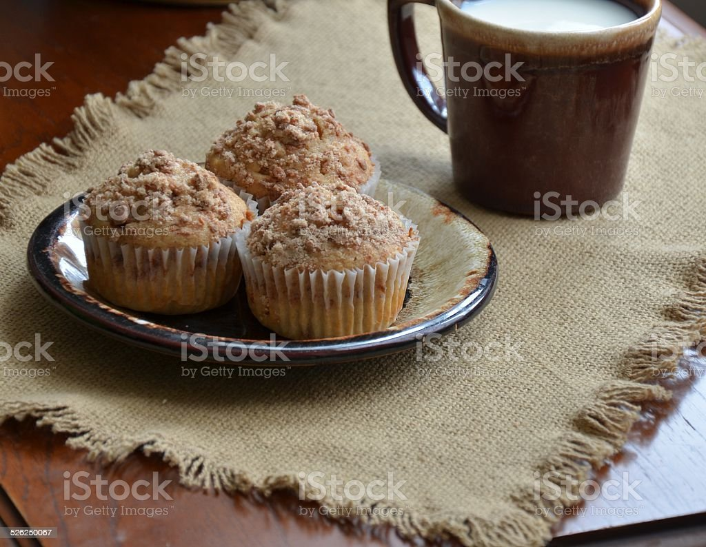 Crumb Topping Muffins stock photo
