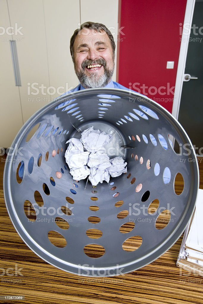 crumbled contract royalty-free stock photo