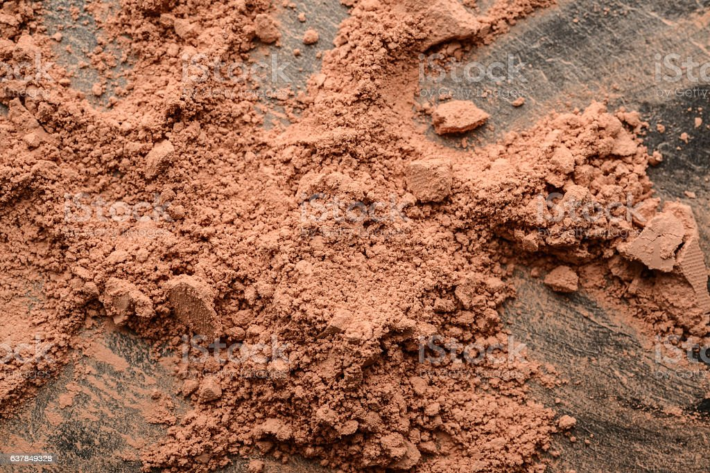 crumbled natural powder – Foto