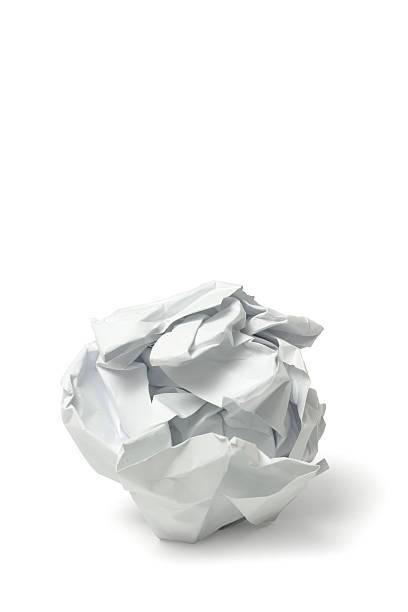 크럼블 종이 - 주름 뉴스 사진 이미지