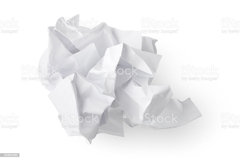 Crumbled paper. royalty-free stock photo
